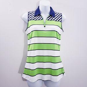 Slazenger Sleeveless Striped Golf Shirt